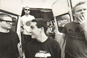 Brutal Juice - Brutal Juice Promotional Photograph.  L-R: Sam McCall, Ted Wood, Craig Welch, Ben Burt and Gordon Gibson.