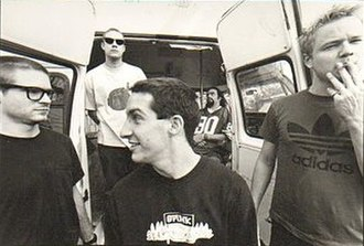 Brutal Juice - Brutal Juice Promotional Photograph.  L-R: Sam McCall, Ted Wood, Craig Welch, Ben Burt and Gordon Gibson.