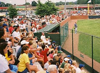 Ceredo, West Virginia - Residents of Ceredo enjoying a Little League Baseball game.