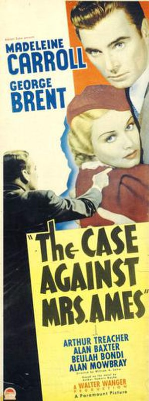 The Case Against Mrs. Ames - theatrical release poster