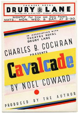 Cavalcade (play) - Promotional flyer
