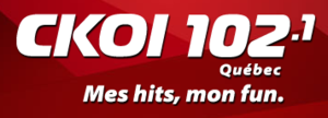 CFEL-FM - CFEL-FM's logo as CKOI 102.1, used from 2012 to 2015.