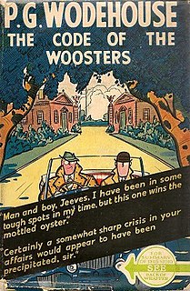 <i>The Code of the Woosters</i> 1938 novel by P.G. Wodehouse