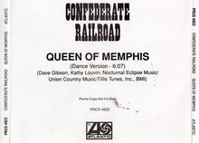 Confederate Railroad - Queen of Memphis single.png