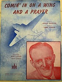 Cover art for Comin' in on a Wing and a Prayer by Jimmy McHugh-Harold Adamson.jpeg