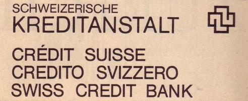 Credit Suisse logo c1972