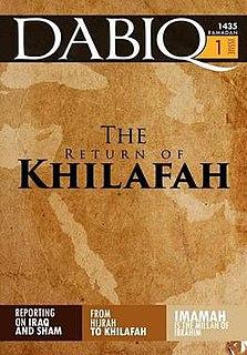 <i>Dabiq</i> (magazine) propaganda magazine published by the self-proclaimed Islamic State