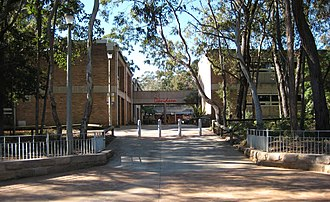 Davidson High School (New South Wales) - Mimosa Street entrance of school