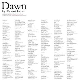 Dawn (Mount Eerie album) - Image: Dawn Mount Eerie