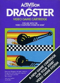 <i>Dragster</i> (video game) 1980 video game by Activision