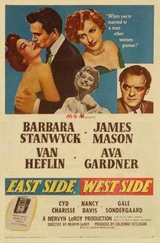 East Side, West Side (1949 film) - Image: East Side, West Side Film Poster