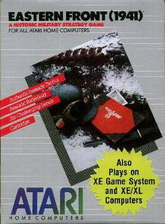 Eastern Front (1941) - Box cover for official Atari, Inc. release