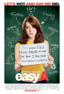 <i>Easy A</i> 2010 film by Will Gluck