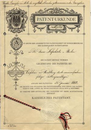Eucerin - Eucerin Patent, 1902