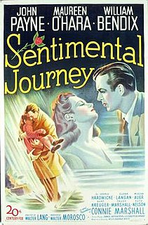 <i>Sentimental Journey</i> (film) 1946 film by Walter Lang