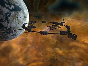 Freelancer (video game) - Scenes set against planetary systems such as this have earned praise from reviewers for their beauty.