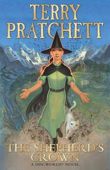 Front cover of the book The Shepherd's Crown by Terry Pratchett, drawn by Paul Kidby.jpeg