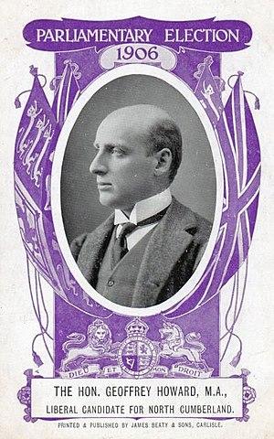 Eskdale (UK Parliament constituency) - Image: Geoffrey Howard 1906 postcard