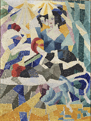 Gino Severini - Gino Severini, 1910–11, La Modiste (The Milliner), oil on canvas, 64.8 x 48.3 cm, Philadelphia Museum of Art