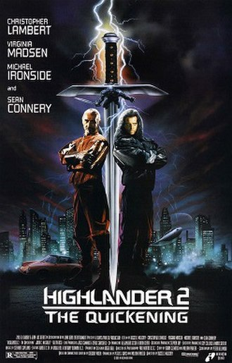 Highlander II: The Quickening - Theatrical release poster