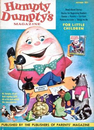 Humpty Dumpty (magazine) - The first cover of Humpty Dumpty in 1952.