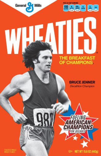 Caitlyn Jenner - Image: Jenner on Wheaties cereal box
