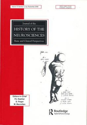 Journal of the History of the Neurosciences - Image: Journal of the History of the Neurosciences
