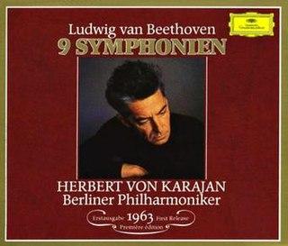 <i>Karajan: Beethoven Symphonies (1963)</i> 1963 studio album by Herbert von Karajan