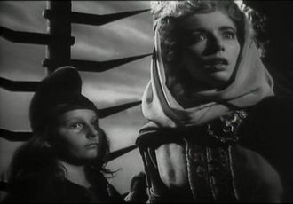 Macduff's son - Christopher Welles (left) as Macduff's son in Orson Welles' controversial film adaptation Macbeth (1948)