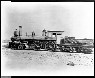Arcadia station - Image: Los Angelesand San Gabriel Valley Railroad Train 1885