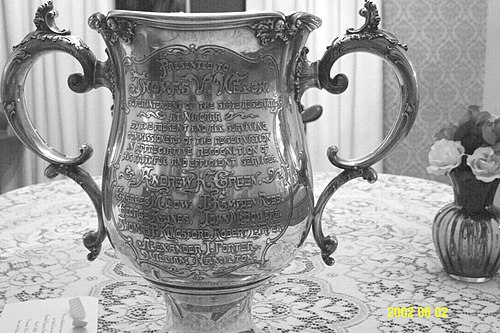 Sterling silver cup given to T.V.Welch Lovingcup front lge.JPG