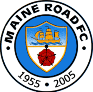Maine Road F.C. - Badge (1955–2005) marked 50th Anniversary Maine Road F.C in 2005