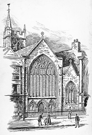 St Mark's Church, Bristol - St Mark's Church, Bristol, west front, as drawn c. 1892 following restoration