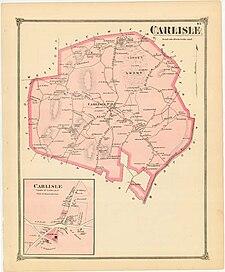 An 1875 map of Carlisle
