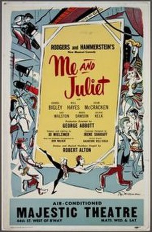 Me and Juliet - Original Broadway poster (1953)