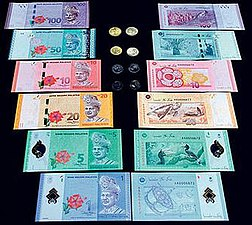 The Malaysian ringgit third series coinage and fourth series banknote