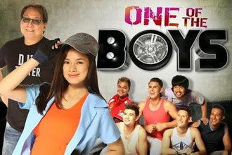 Eula Caballero - Eula Caballero with the cast of One of the Boys
