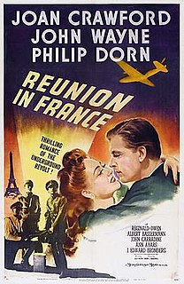 <i>Reunion in France</i> 1942 feature film directed by Jules Dassin