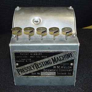 History of virtual learning environments - Pressey Testing Machine (exterior)
