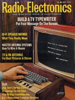 TV Typewriter video terminal that could display text on a standard television set
