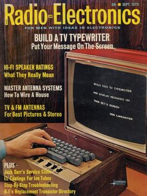 TV Typewriter - The September 1973 issue of Radio-Electronics shows Don Lancaster's TV typewriter.