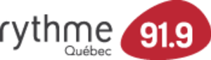 CJEC-FM - logo for CJEC-FM as a Rythme FM station, 2009-2012.