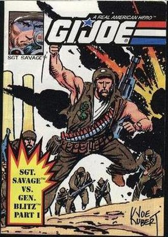 Sgt. Savage and his Screaming Eagles - Mini-comic included with the Battle Bunker playset, featuring art by Joe Kubert.