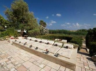 Acre Prison break - Tombstone of fighters at Shavei Tzion cemetery