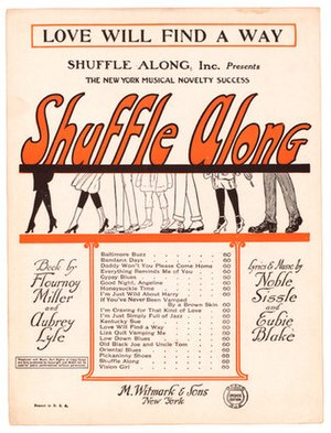 "Shuffle Along - Sheet music for ""Love Will Find a Way"", a song from the show"