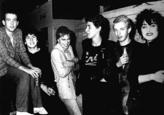 Post-punk - Siouxsie and the Banshees with the Cure's Robert Smith. The two groups frequently collaborated.