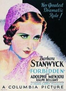 <i>Forbidden</i> (1932 film) 1932 film by Frank Capra