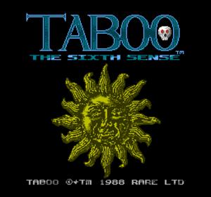 Taboo: The Sixth Sense - Taboo: The Sixth Sense