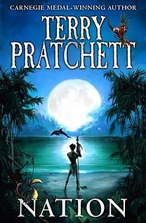 <i>Nation</i> (novel) 2008 novel by Terry Pratchett