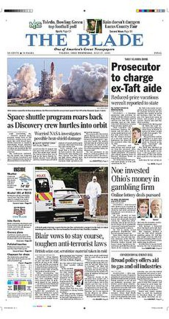 The Blade (Toledo, Ohio) - Image: The Blade front page